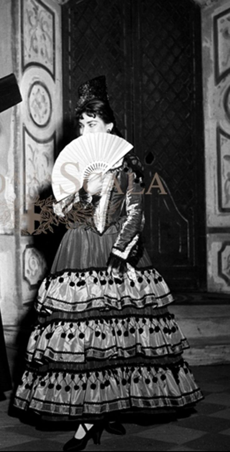 Maria Callas Regia Carlo Piccinnato  Teatro alla Scala di Milano 1956