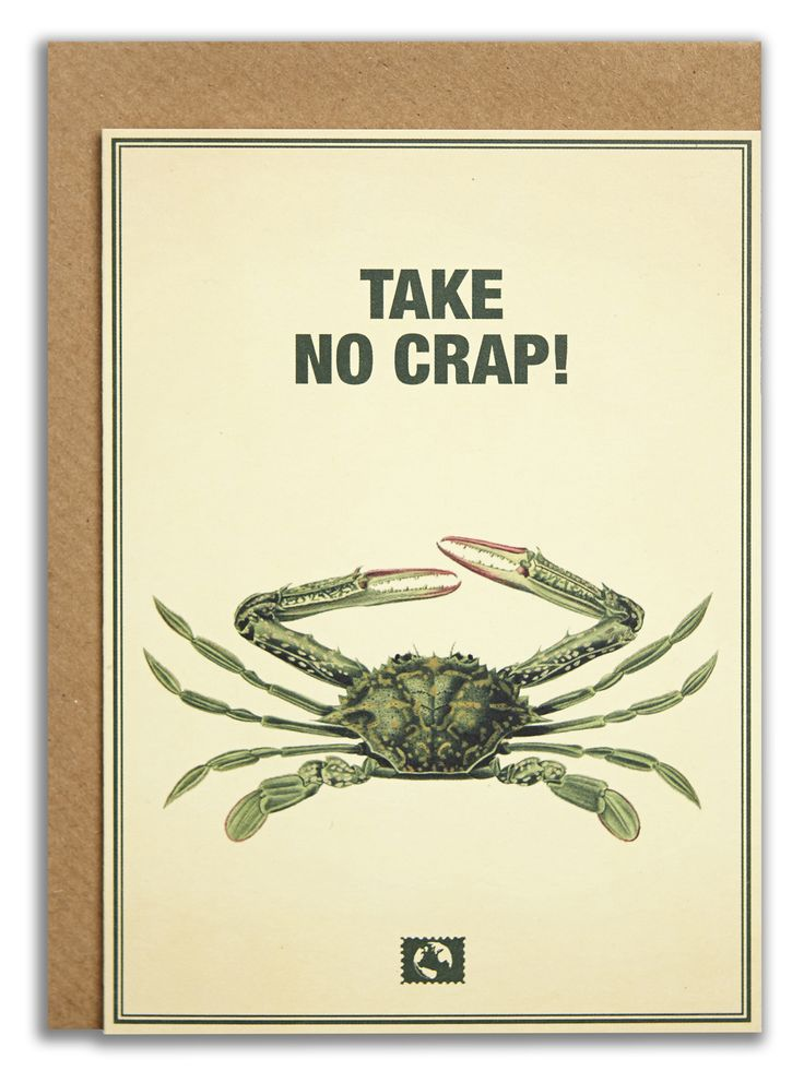"""Take no crap!"". #messageearth #sustainable #greetingcards #sustainability #eco #design #ecodesign #vintage #cards #peculiar"