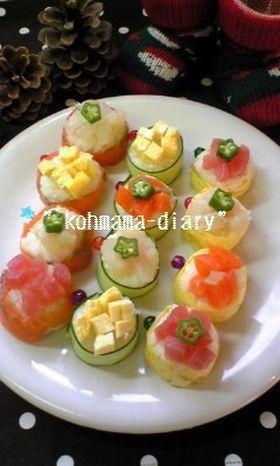 パーティを彩る☆花畑巻き寿司。*。*。* by ★こうママ★ [クックパッド] 簡単おいしいみんなのレシピが251万品