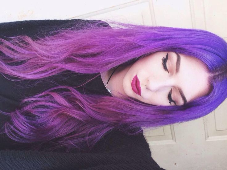 I'm not going back to long purple hair anytime soon, but this is so pretty