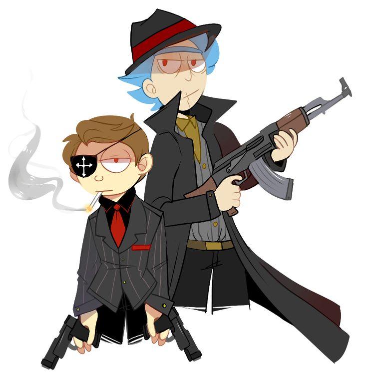 icyaerolite: Evil Rick and morty I really liked rudigerblues mafia AU