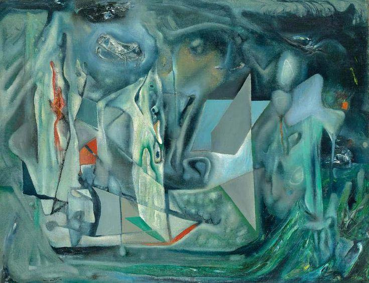 "www.matta-art.com - The Art of MATTA - Morphologie psychologique de l'attente"" 1938 71 x 91 cm. private collection, Montreal"