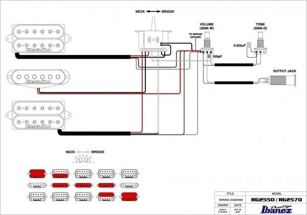 Ibanez Wiring Diagram 3 Way Switch | Guitar building, Guitar pickups, IbanezPinterest