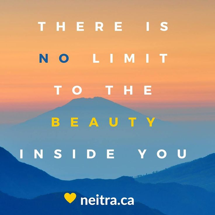 We just want to help you find it naturally!  Check out neitra.ca for ALL our Neitra Love!
