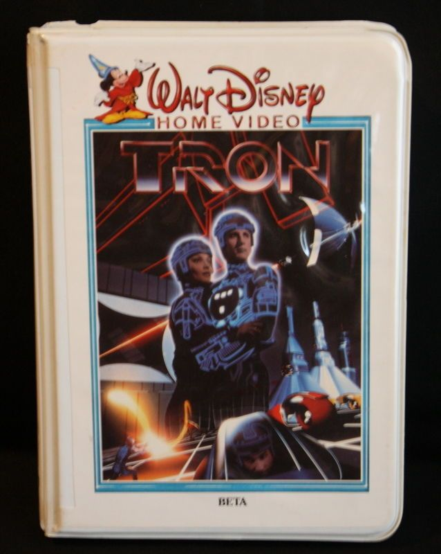 TRON Walt Disney Home Video Beta Clam Shell Case 1982 Si Fi Action