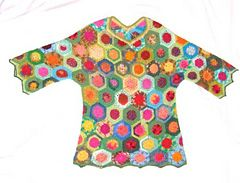 Ravelry: PRATO DI FIORI crochet tunic pattern by molli woodtagger