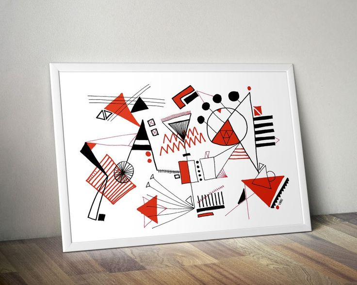 JUST ABSTRACT. Art Print (A3) by Vira Kiktso via VIRKI SHOP. Click on the image to see more! #virkiillustration #abstract #tictail