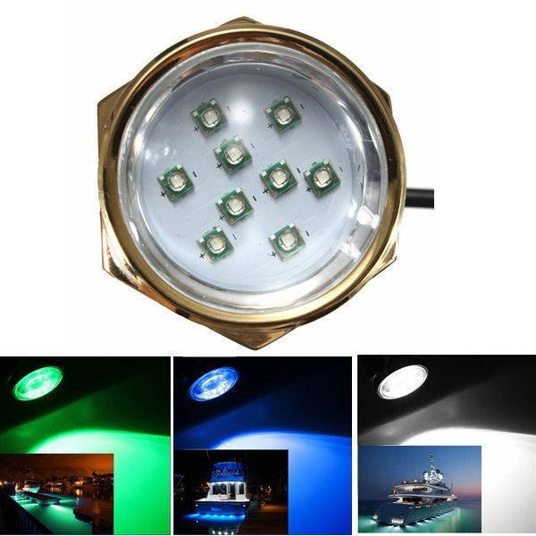 27W 1800LM DC 11-28V titanio bajo el agua luz LED para el yate barco Coche Moto