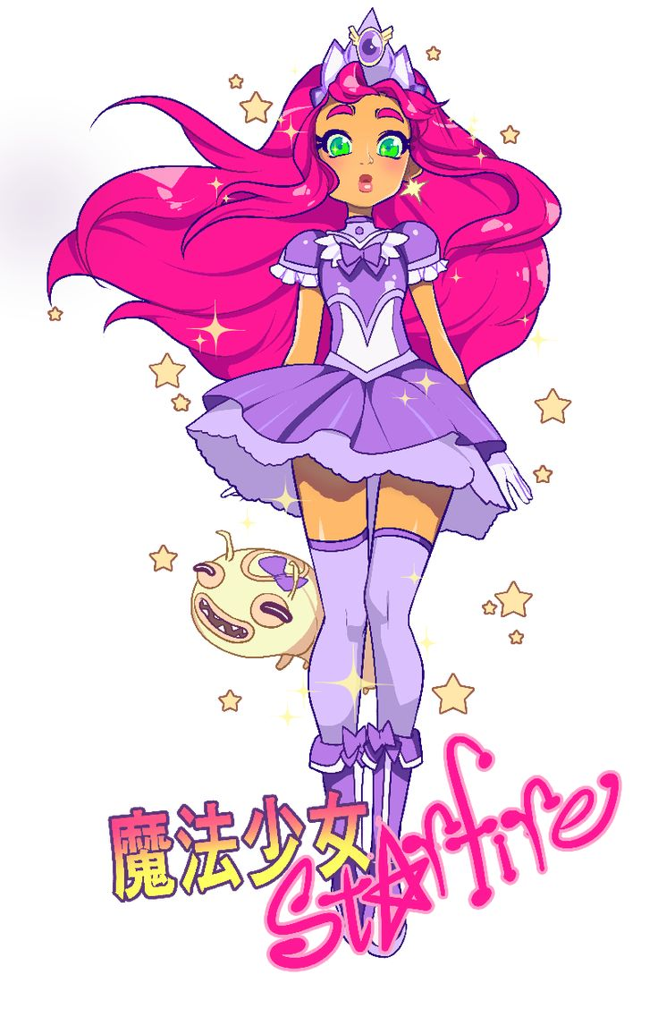 "raspbeary: "" mahou shoujo starfire ੭•̀ω•́)੭̸*✩⁺˚ feat. silkie "" my life is now complete"