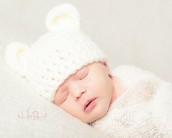 Рука младенца вязания крючком шлем Мишка коренастый фотография/Фото prop новорожденного-12 месяцев ребенок мальчик девочка Великобритании продавца