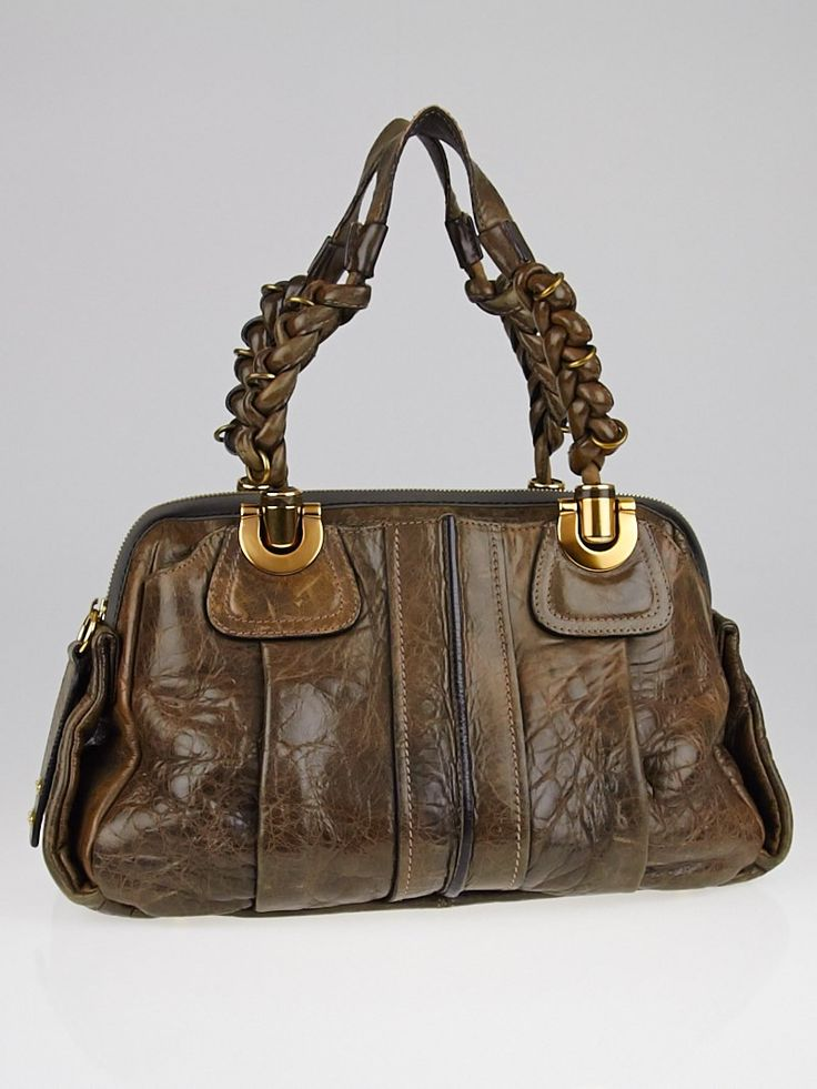 Chloe Brown Leather Small Heloise Bag