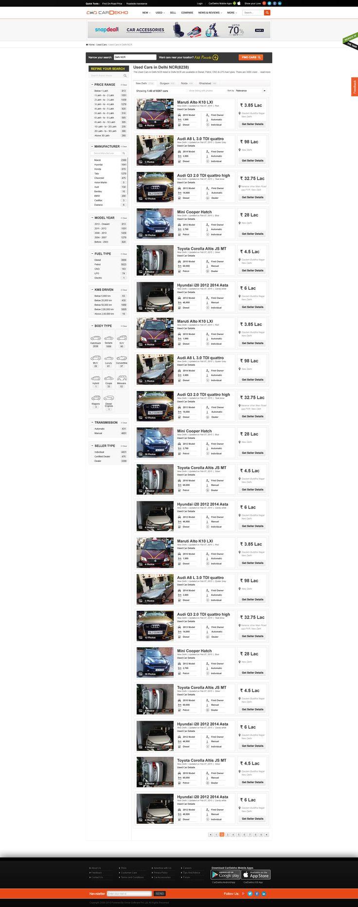 images about my work portfolio behance cardekho com mockup design for the delhi ncr page my work portfoliomockup