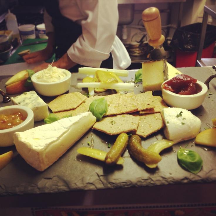 Italian and cornish cheese board
