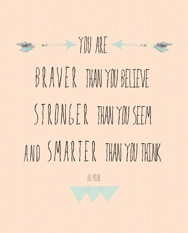 You are braver than you believe   FREE week worksheet printable from the lovely Morgan Day Cecil!
