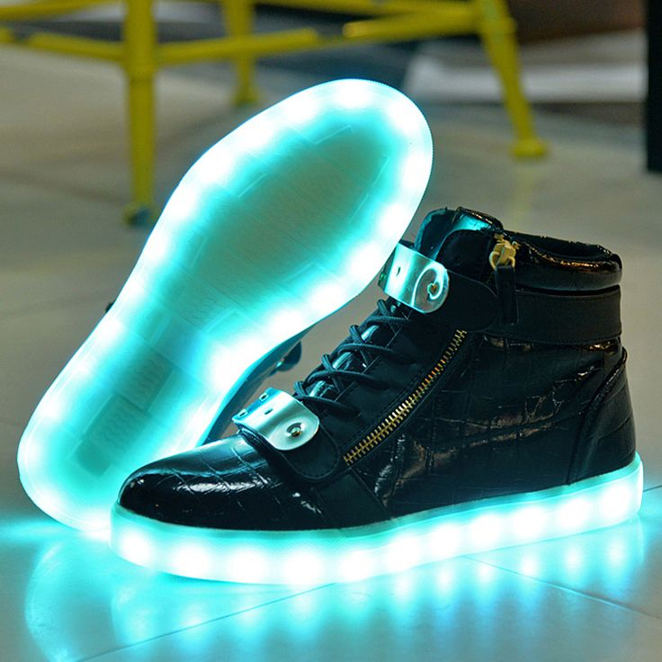 Star Printing LED flash 7 color changing USB charging unisex casual shoes chaussure lumineuse led 2W1cSP