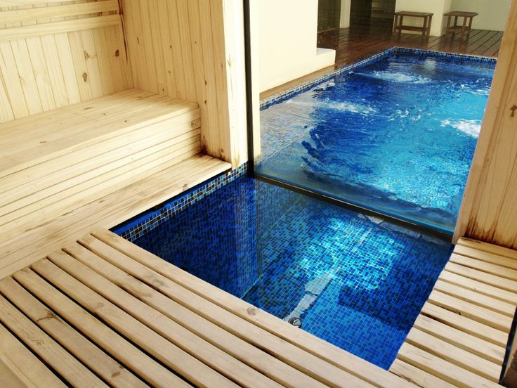 sauna. swim underneath.