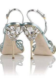 strappy jeweled sandals wedding shoes