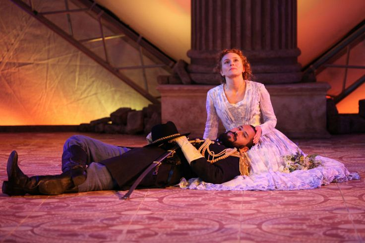 Luc Roderique and Kayla Deorksen: Photo by David Blue  #Othello from #BardontheBeach #Shakespearefestival