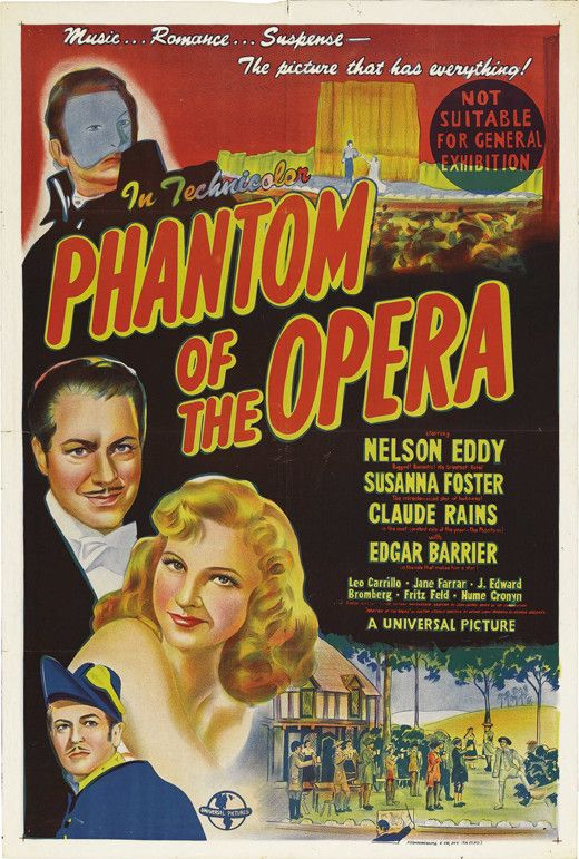 The Phantom of the Opera (Australian) 11x17 Movie Poster (1943)