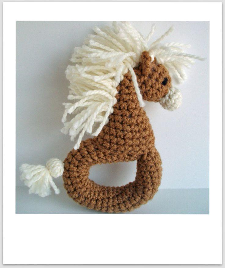 Crochet Zebra/Pony Rattle Pattern PDF by yarnabees on Etsy