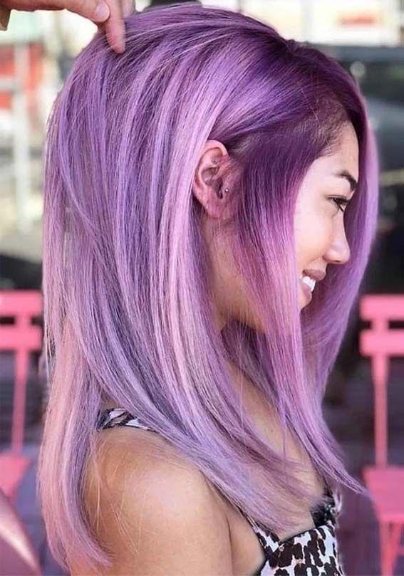Amazing Purple Hair Color Ideas For Women In 2020 Hair Color Purple Hair Color Highlights Hair Color Unique