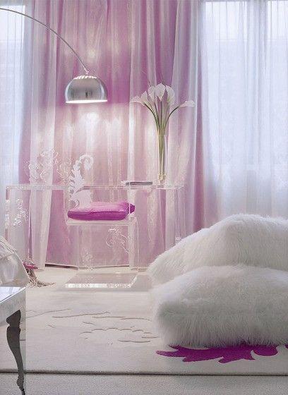 pink glam bedroom