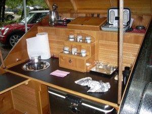 30 best images about teardrop trailer ideas on pinterest for Teardrop camper kitchen ideas