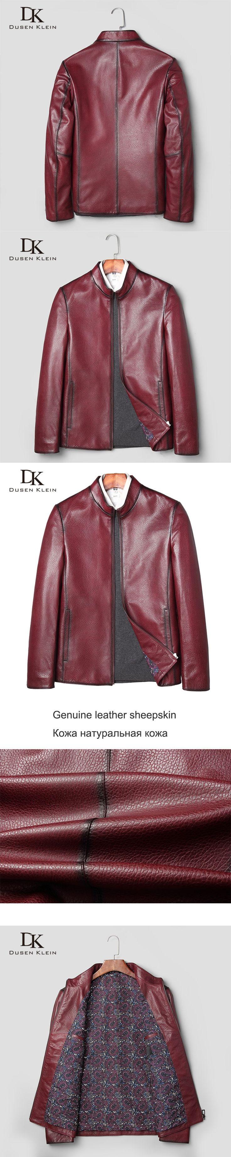 Motorcycle jacket men Fashion designer genuine Sheepskin Jacket Dusen Klein Male Luxury Leather Coat Autumn coats  71J7830N