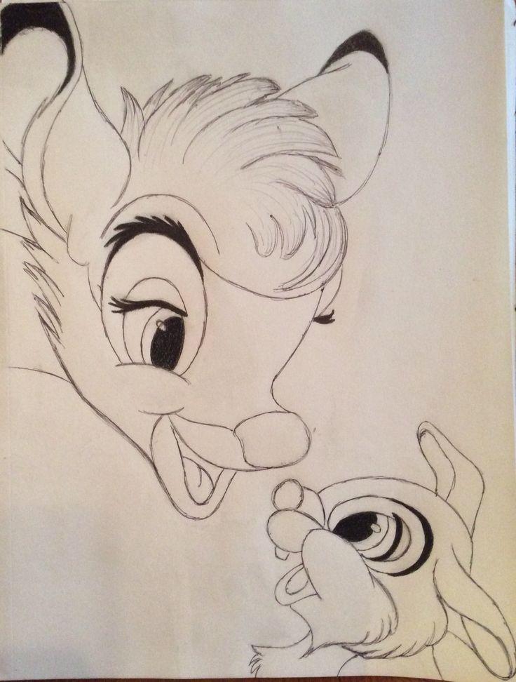 Картинки для срисовки диснеевские животные