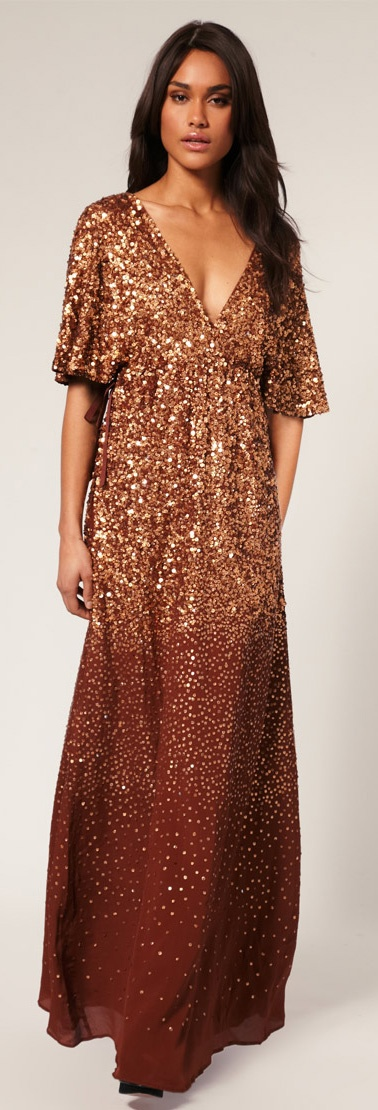 Jumpsuit With Double Layer Halter Copper Maxi Dresses