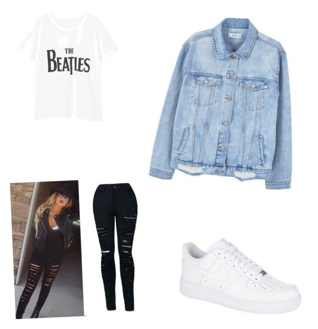 """""""Untitled #18"""" by alexandra-kermanidis on Polyvore featuring MANGO and NIKE"""