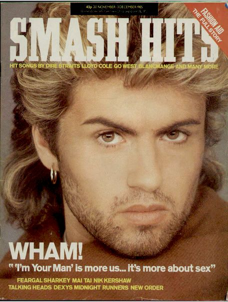 """George Michael on the Cover of """"Smash Hits"""" magazine.  Repinned by Tiffany Says Hop Into My DeLorean (1)"""