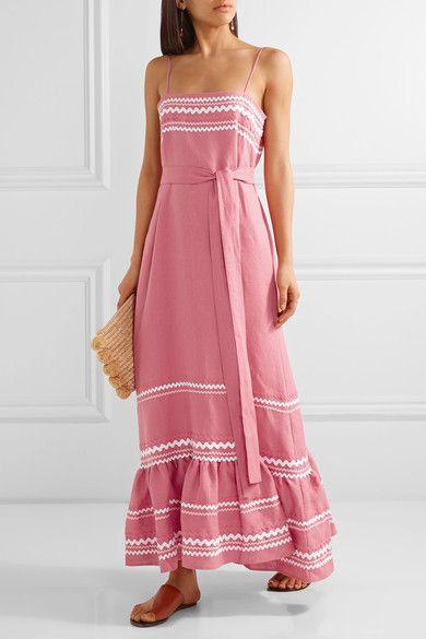 Lisa Marie Fernandez   Rickrack-trimmed linen maxi dress   NET-A-PORTER.COM