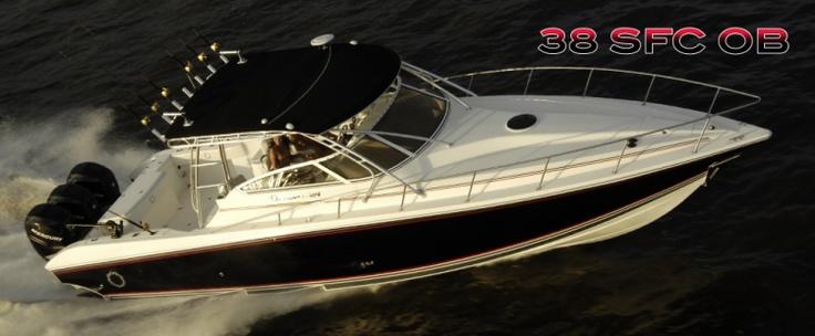 New 2012 Fountain Boats 38 Sportfish Cruiser OB Express Fisherman Boat
