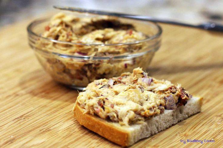 Pasta z wędzonej makreli z suszonymi pomidorami - My Blueberry Corner
