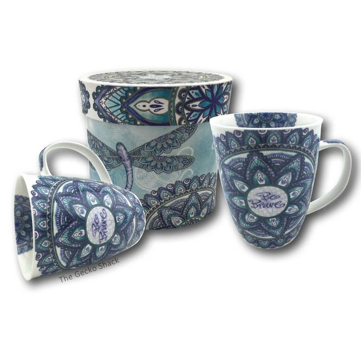 The Gecko Shack - Be Brave Blue Mandala Cup in display Gift Box , $19.95 (http://www.geckoshack.com.au/be-brave-blue-mandala-cup-in-display-gift-box/)