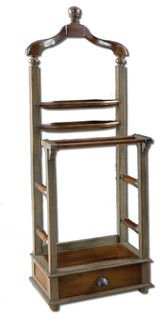 Simeon Distressed Valet - traditional - coat stands and umbrella stands - by Fratantoni Lifestyles