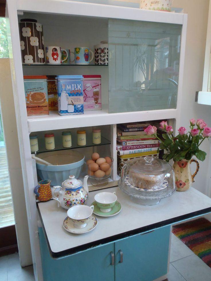 Gorgeous 1950's Retro Vintage Kitsch Kitchen Cupboard Cabinet Larder Storage