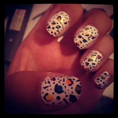 My first nail art c: