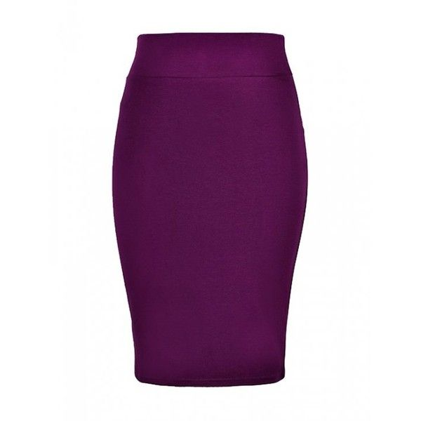PENCIL SKIRT IN JERSEY ($15) ❤ liked on Polyvore