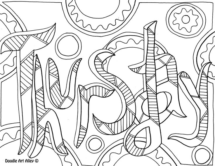 Free And Printable Days Of The Week Coloring Pages At Classroom Doodles By Doodle Art Alley