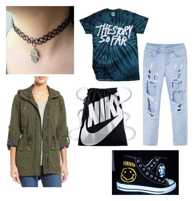 """""""90s"""" by tingram871 on Polyvore featuring Levi's, Converse and NIKE"""