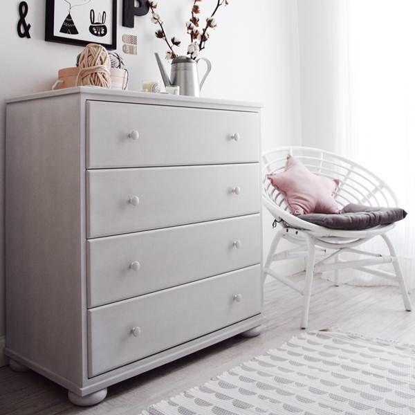 Muebles blancos para dormitorios infantiles estilo nórdico