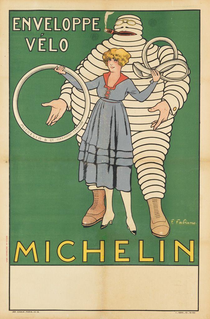 pneu - enveloppe vélo - Michelin - 1916 - illustration de Fabien Fabiano -
