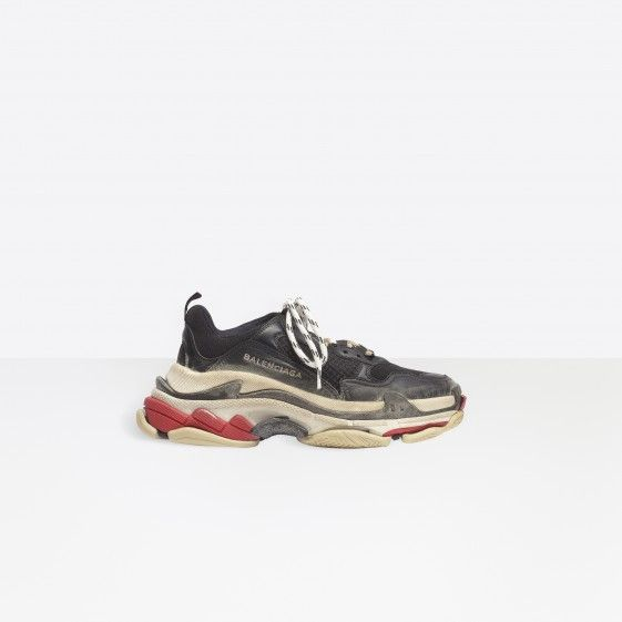 Shop Balenciaga Oversize Multimaterial Sneakers With Quilted Effect Black Women in Balenciaga Sale online with Balenciaga Sneakers Sale and Cheap Balenciaga. #fashion #shoes #sneakers #spring #ss18 #lifestyle #outlet