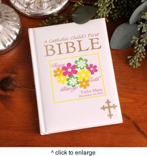 20 best babys first easter basket ideas images on pinterest buy this personalized catholic childs bible many designs and other baptism christening gifts from all about gifts and baskets today negle Choice Image