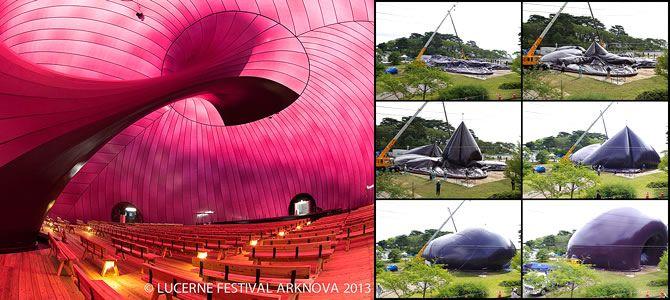 Ark Nova, inflatable touring concert hall