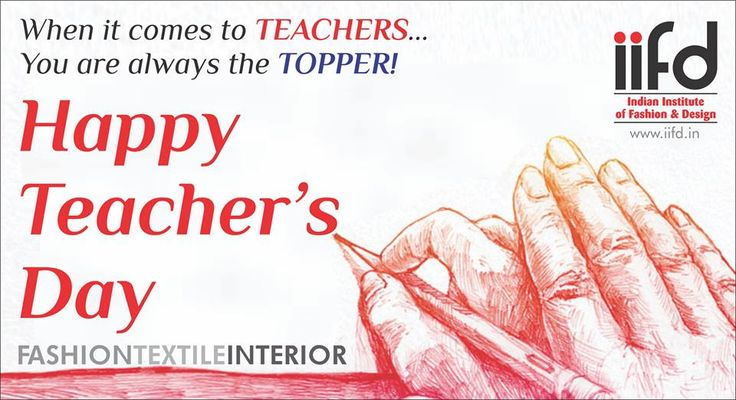 Happy Teacher's Day  Share and Like it. Best Fashion Degree Institute In chandigarh For #Admission_Process Call @+91-9041766699 OR Visit @ www.iifd.in/  #iifd #best #fashion #designing #institute #chandigarh #mohali #punjab #design #admission #india #fashioncourse #himachal #InteriorDesigning #msc #creative #haryana #textiledesigning