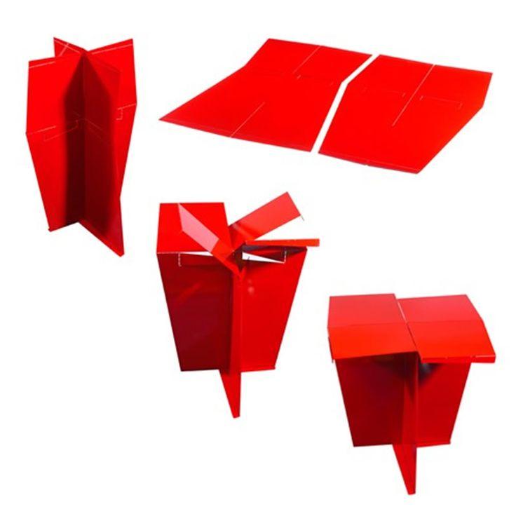 Contemporary Minimalist Home Interior Furniture Design Ideas, Origami Side Table by MIO 1