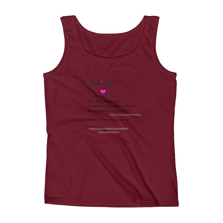 Wifey Definition Ladies' Tank